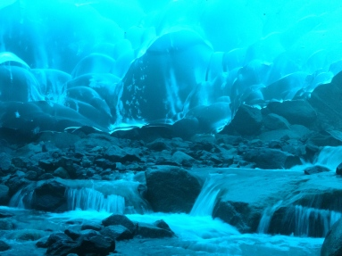 Inside the Mendenhall ice cave