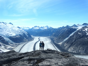 Chrissy and I with the Gilkey as a rather spectacular backdrop
