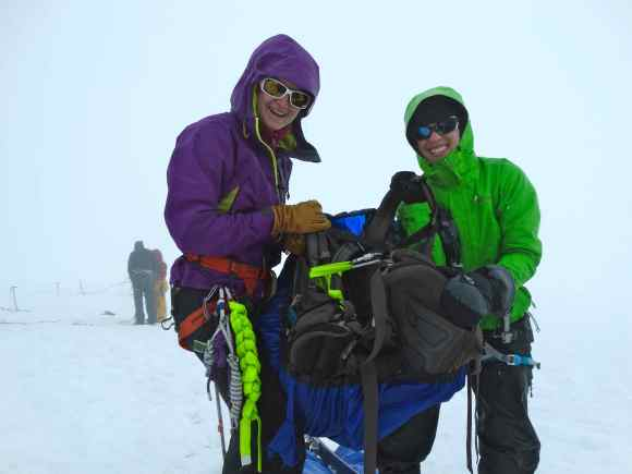 Crevasse rescue practice in the freezing cold and rain. This is what JIRP really looks like!