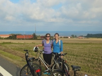 Alex and I before the final stretch of our 65 km bike ride!