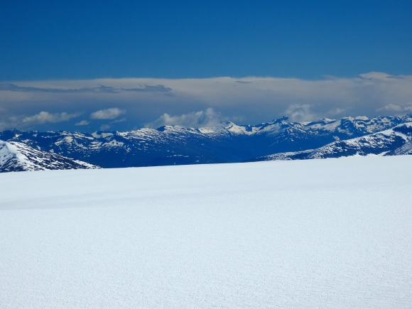 The broad expanse of the Taku Glacier