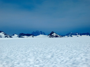 The view of Devil's Paw from the glacier