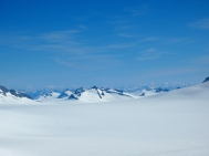 Looking towards the Taku Glacier from above Camp 18