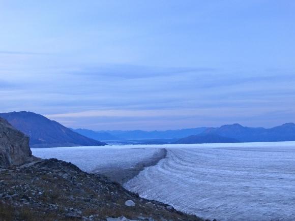 Llewellyn Glacier at sunset