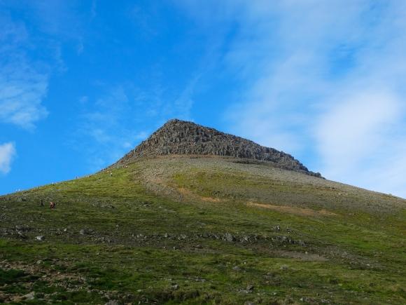 Þvervellshorn from the trail