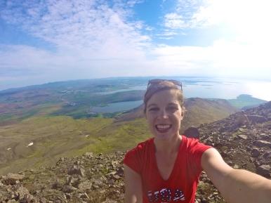 GoPro selfie success at Mt. Esja