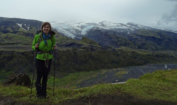 In front of Eyjafjallajokull