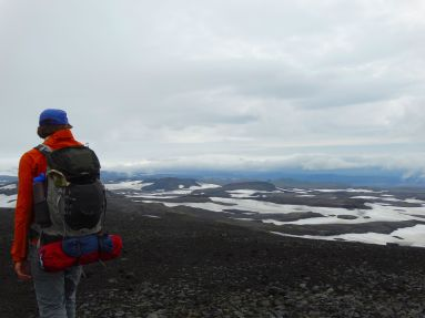 Looking down towards Skogar