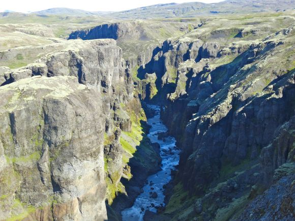 Looking down Iceland's 'Grand Canyon'